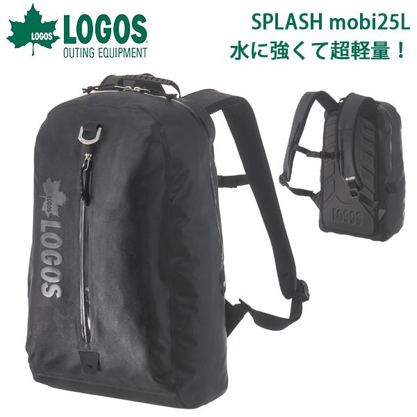 送料無料 ロゴス LOGOS SPLASH mobi ザック25 ブラックカモ メンズ 25L 防水 超軽量 バックパック リュックサック デイパック リュック ザック バッグ アウトドア 通勤 通学