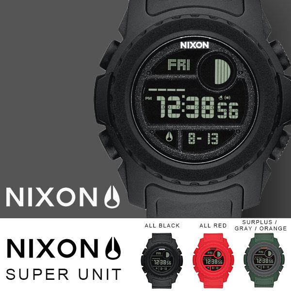 現品限り 送料無料 ニクソン NIXON スーパーユニット THE SUPER UNIT 日本正規品 腕時計 リストウォッチ メンズ レディース スケートボード カジュアル ストリート サーフ アウトドア ウォッチ