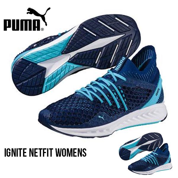 得割31 現品のみ 無限の結び方 送料無料 ランニングシューズ プーマ PUMA レディース イグナイト NETFIT ネットフィット シューズ 靴 運動靴 ランニング ジョギング ウォーキング