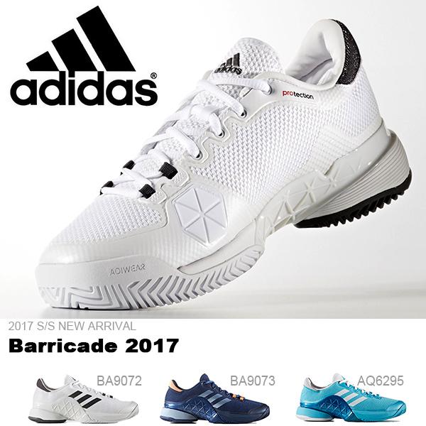 送料無料 テニスシューズ アディダス adidas メンズ Barricade 2017 バリケード2017 オールコート用 テニス シューズ 靴 BA9072 BA9073 AQ6295 2017春夏新作 得割23