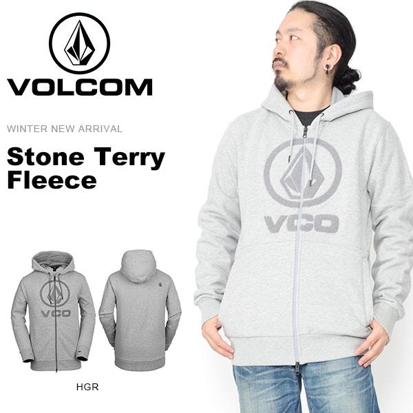 送料無料 パーカー VOLCOM ボルコム メンズ Stone Terry Fleece フリース ロゴ ジップアップパーカー フルジップパーカー 長袖 アウトドア スノーボード スノボ スキー G2451902 2018-2019冬新作 18-19 日本正規品 得割20