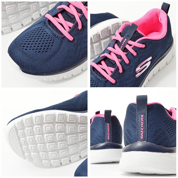 スニーカースケッチャーズSKECHERSレディースグレースフルゲットコネクテッドGRACEFUL-GETCONNECTEDシューズ靴ウォーキングメモリーフォーム126152018秋冬新色得割20