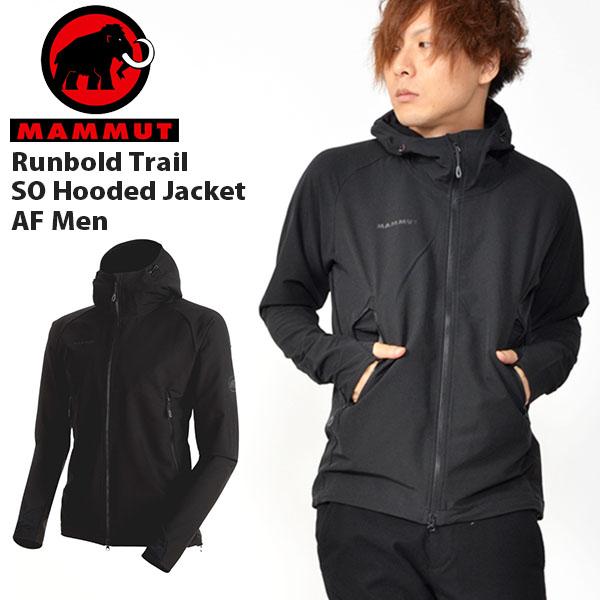 送料無料 ウインドブレーカー マムート MAMMUT メンズ Runbold Trail SO Hooded Jacket AF Men ソフテック ジャケット マウンテンパーカー アウター アウトドア 登山 トレッキング 2018秋冬新作 20%off