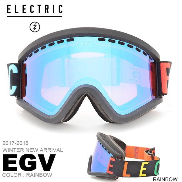送料無料 スノーゴーグル ELECTRIC エレクトリック EGV VOLCOM イージーブイ アジアンフィット 日本正規品 メンズ レディース ユニセックス スノボ スノー ボード 平面レンズ 2017-2018冬新作 2017-18 17-18 得割25