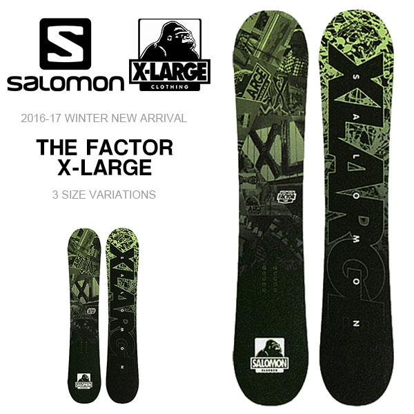 送料無料 SALOMON サロモン ボード THE FACTOR X-LARGE コラボ キャンバー 板 スノーボード メンズ ラージ スノボ 紳士用 スノー 150 153 156 【得割35】