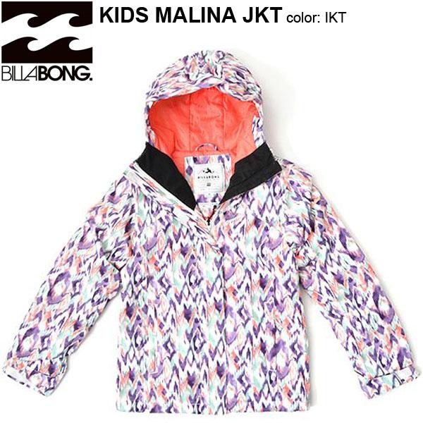 送料無料 スノーボードウェア ビラボン BILLABONG キッズ ジュニア 子供 MALINA JKT スノージャケット ガールズ スノボ スノボー スキーウェア 30%off