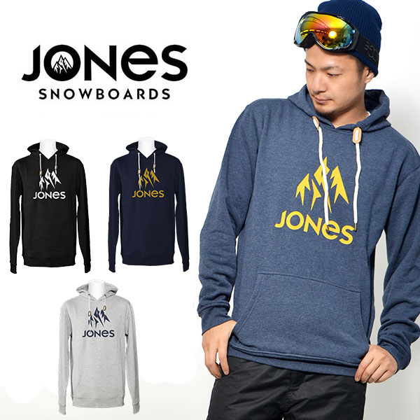 送料無料 プルオーバー パーカー JONES ジョーンズ メンズ TRUCKEE HOODY スノー パーカー フーディ フリース ロゴ インナー ギア スノボ 日本正規品 得割30