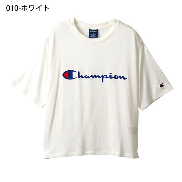半袖TシャツチャンピオンChampionレディースT-SHIRTロゴシュート丈クルーネックスポーツカジュアル2019春夏新作20%OFFCW-PS313