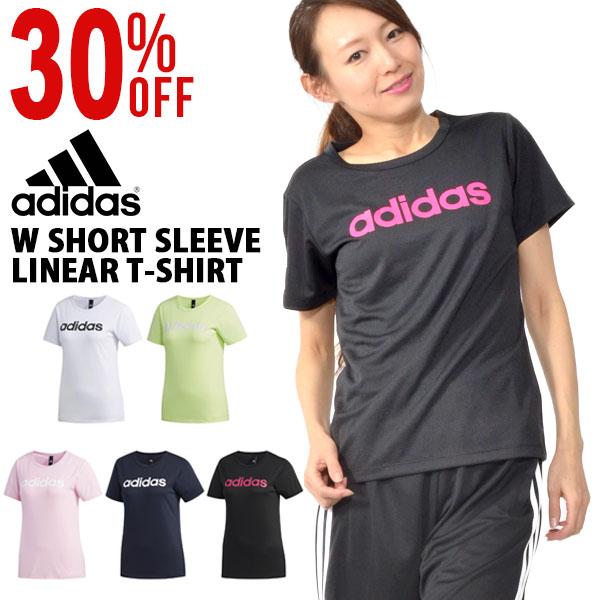 半袖TシャツアディダスadidasレディースW半袖リニアTシャツスポーツウェアランニングジョギングトレーニングウェアジムヨガフィットネス2019夏新作23%OFFFTK26