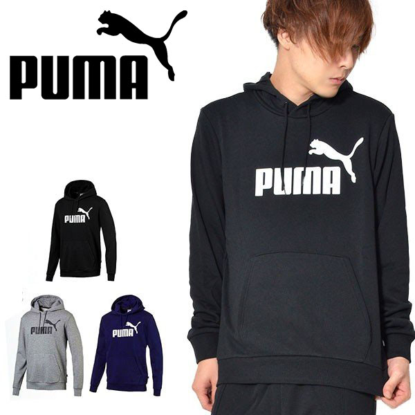 Men PUMA Mens Ess Hoodie Tr Big Logo Sweatshirt Hoodies Men