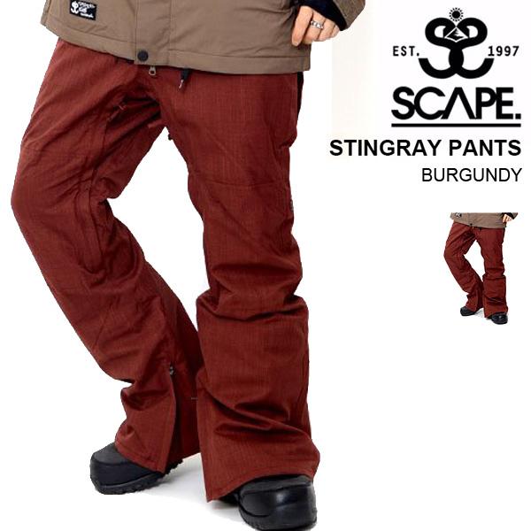 現品限り 40%off 送料無料 スノーボードウェア SCAPE エスケープ STINGRAY PANTS メンズ パンツ スティングレイ スノボ スノーボード スノーウェア ボトムス