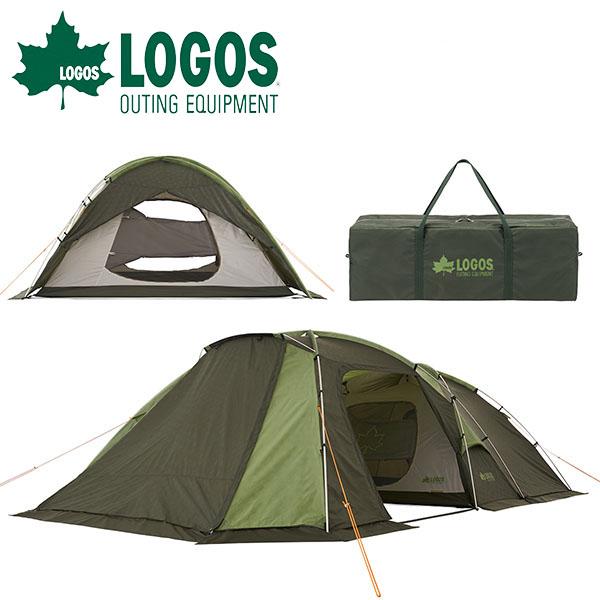 送料無料 ロゴス LOGOS neos ALストリームドゥーブル・PLR XL-AI テント 6人用 2ルームテント 大型 簡単 収納袋 キャノピー ファミリーテント タープ アウトドア 野外フェス キャンプ レジャー 71805043【あす楽対応】