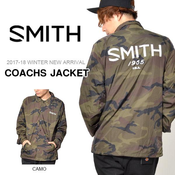 送料無料 コーチジャケット SMITH OPTICS スミス COACHS JACKET ナイロンジャケット 防水 ジャケット アウター スノボ スノーボード 2017-2018冬新作 17-18