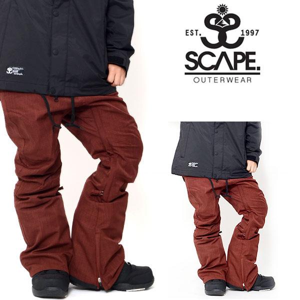 現品限り 40%off 送料無料 スノーボードウェア SCAPE エスケープ ARES PANTS レディース パンツ スノボ スノーボード スノーウェア ボトムス アレスパンツ