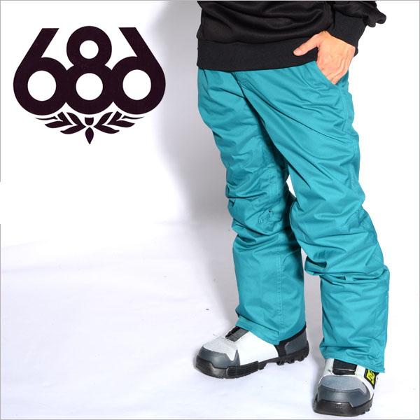 送料無料 スノーボードウェア 686 SIX EIGHT SIX シックスエイトシックス Authentic Smarty Slim Platform Pant メンズ パンツ スノボ ボトムス L4W206 得割40