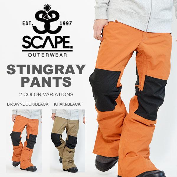 現品限り 40%off 送料無料 スノーボードウェア SCAPE エスケープ STINGRAY PANTS メンズ パンツ スノボ スノーボード スノーウェア ボトムス 【あす楽対応】