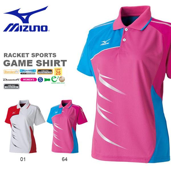 【バドミントン】 【ミズノ mizuno(62JA6311) ゲームシャツ】 【テニス】 【半袖ポロシャツ】 【ウィメンズ】 【ネコポス対応】