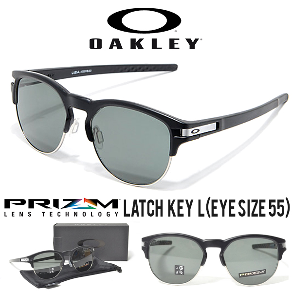 最新モデル LATCH KEY L 送料無料 OAKLEY オークリー サングラス ラッチ キー L (EYE SIZE 55) 2018春新作 Prizm Grey Lens プリズム レンズ 日本正規品 眼鏡 アイウェア oo9394-01