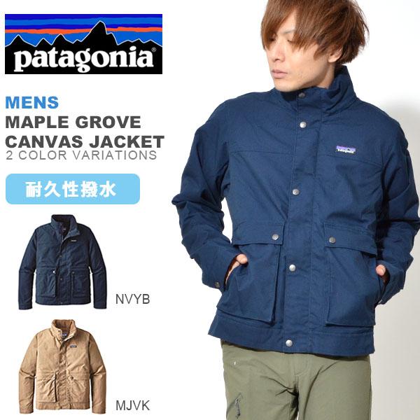 送料無料 裏フリース ナイロン ジャケット Patagonia パタゴニア メンズ Mens Maple Grove Canvas Jacket メープル グローブ キャンバス ジャケット 撥水 ワーク マウンテン 日本正規品 26995 アウトドア シェル