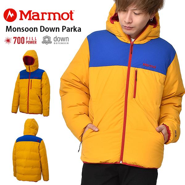 送料無料 ダウン ジャケット Marmot マーモット Monsoon Down Parka モンスーンダウンパーカー TOMOJL31 GDSU メンズ イエロー アウトドア キャンプ 33%off