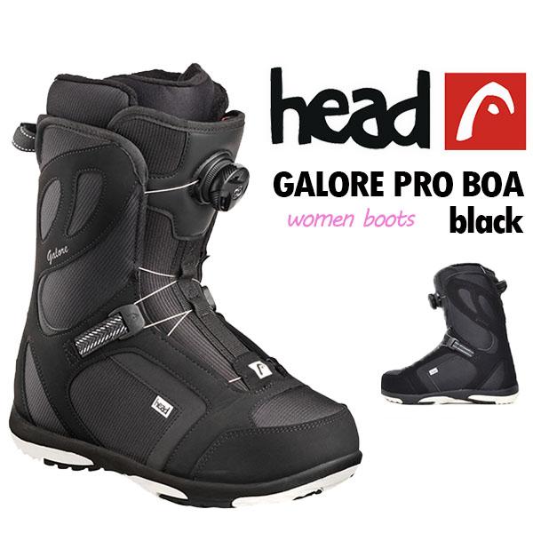 23.0cm 送料無料 head ヘッド スノーボード ブーツ GALORE PRO BOA black 354307 レディース 婦人 ボア スノボ 国内正規代理店品 得割59