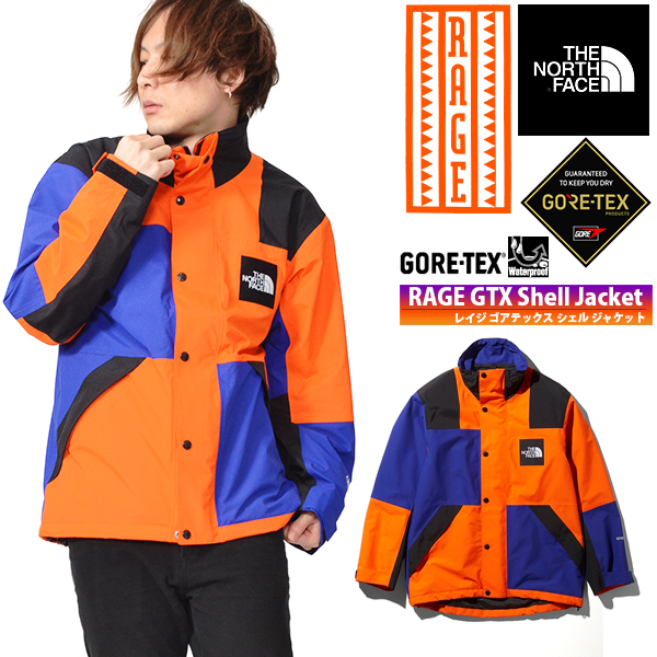 復刻 RAGEシリーズ 送料無料 GORE-TEX ジャケット THE NORTH FACE ザ・ノースフェイス RAGE GTX Shell Jacket レイジ GTX シェル メンズ スクエアロゴ np11961