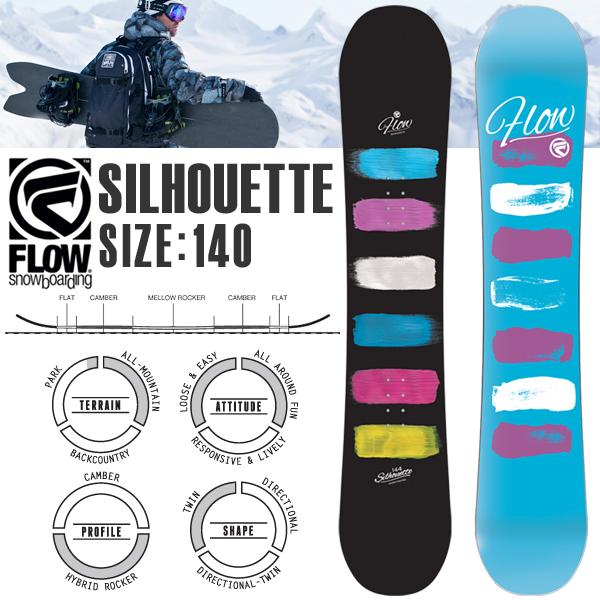 得割65 送料無料 板 スノーボード FLOW フロー レディース 140 SILHOUETTE シルエット ハイブリッドロッカー 婦人 ウィメンズ スノー ボード スノボ