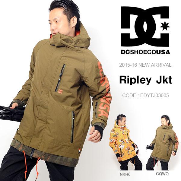 現品限り 50%off 半額 送料無料 スノーウェア ディーシー DC SHOE メンズ ジャケット Ripley Jkt スノーボード スノボ スキー スノー ウェア スノーボードウェア
