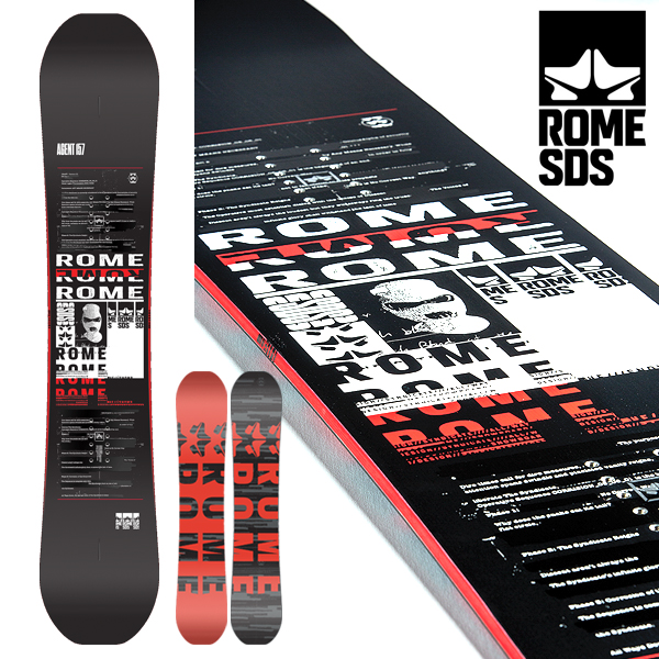 送料無料 スノーボード 板 ROME SDS ローム メンズ AGENT スノボ スノー ボード キャンバー フリーラン パーク 152 154 16-17 得割45