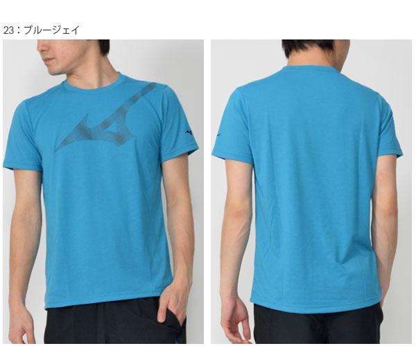 半袖シャツミズノMIZUNOTシャツメンズビッグロゴ吸汗速乾ランニングジョギングトレーニングウェア2019春夏新作20%OFF