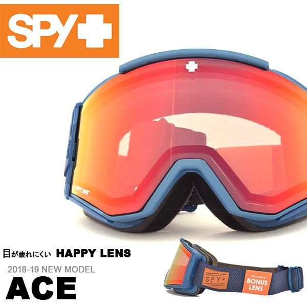 送料無料 スノーゴーグル SPY スパイ ACE エース ハッピーレンズ HAPPY LENS メンズ レディース スノボ スノーボード スキー スノー ゴーグル ギア 日本正規品18/19 ボーナスレンズ付き 得割25