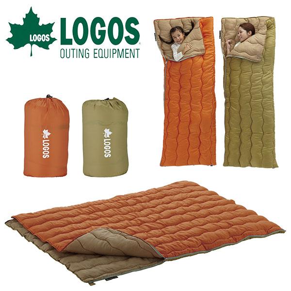 送料無料 ロゴス LOGOS 2in1・Wサイズ丸洗い寝袋・2 封筒型 シュラフ 寝袋 洗える 寝具 ダブルサイズ テント アウトドア キャンプ 野外フェス レジャー 旅行 ツーリング