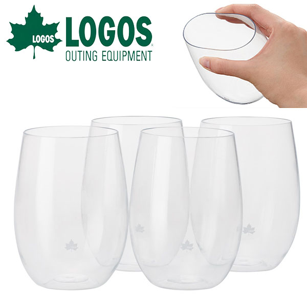 割れないタンブラー ロゴス LOGOS ソフトランスタンブラー(4pcs) コップ タンブラー グラス 食器 アウトドア キャンプ レジャー BBQ バーベキュー ピクニック