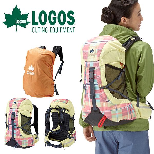 送料無料 ロゴス LOGOS バックパック レディース CADVEL-Design30 AE・check 30L ザックカバー付き チェック柄 リュックサック デイパック アウトドア レジャー トレッキング 登山 バッグ カバン かばん 鞄