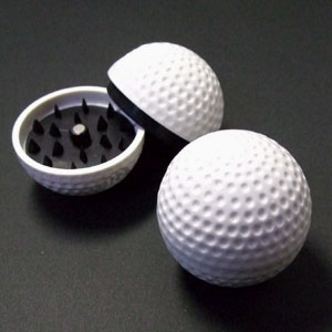 パイプなどに使う葉やドライハーブを砕くための喫煙雑貨 上品 葉タバコ シャグ などに使えるゴルフボール型グラインダー 新作製品 世界最高品質人気 ミキサー