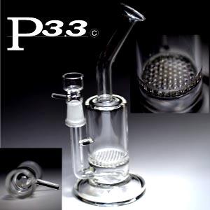 送料無料 マート 爆買いセール 大人気 パイレックスP3.3製のガラスパイプ パイレックスP3.3製ハニカムフィルターガラスボング 水パイプ 喫煙具
