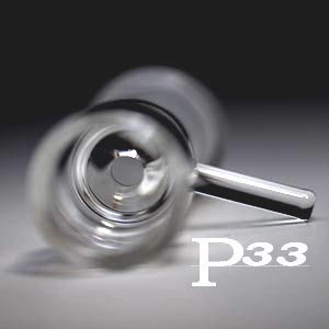 大人気 パイレックスP3.3製のガラスパイプ 水パイプ 期間限定 喫煙具 完全送料無料 用火皿パーツ パイレックスP3.3製ガラスボング火皿パーツ