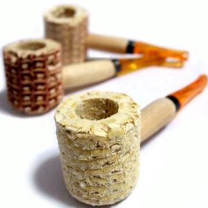 お洒落 ボウル部分が大きめなナチュラル素材のとうもろこしで作ったハンドパイプです コーンパイプ 喫煙具 葉タバコ セール 登場から人気沸騰 など用 シャグ