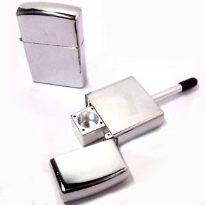 中古 シークレット物として優れている喫煙メタルハンドパイプ ジッポライター型パイプ 喫煙具 など用 シャグ ディスカウント 葉タバコ
