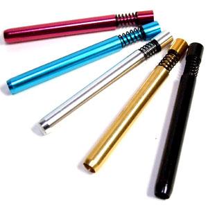 携帯に便利な喫煙メタルハンドパイプ 定価 スプリングワンショットパイプ 喫煙具 割り引き バッツメタル