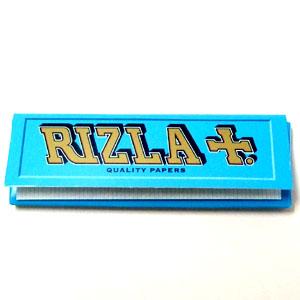 定番として根強い人気を誇るRizlaシガレットペーパーレギュラーサイズ シングル喫煙巻き リズラ ブルー Rizla SALENEW大人気! Blue青 激安卸販売新品 手巻きタバコ用 巻紙 ペーパー