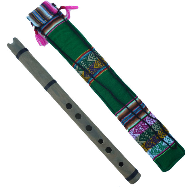 ペルー 民族楽器 GUA-11 ケーナ アンデス楽器 フォルクローレ楽器 リグナムバイタ Guayacan Wari製
