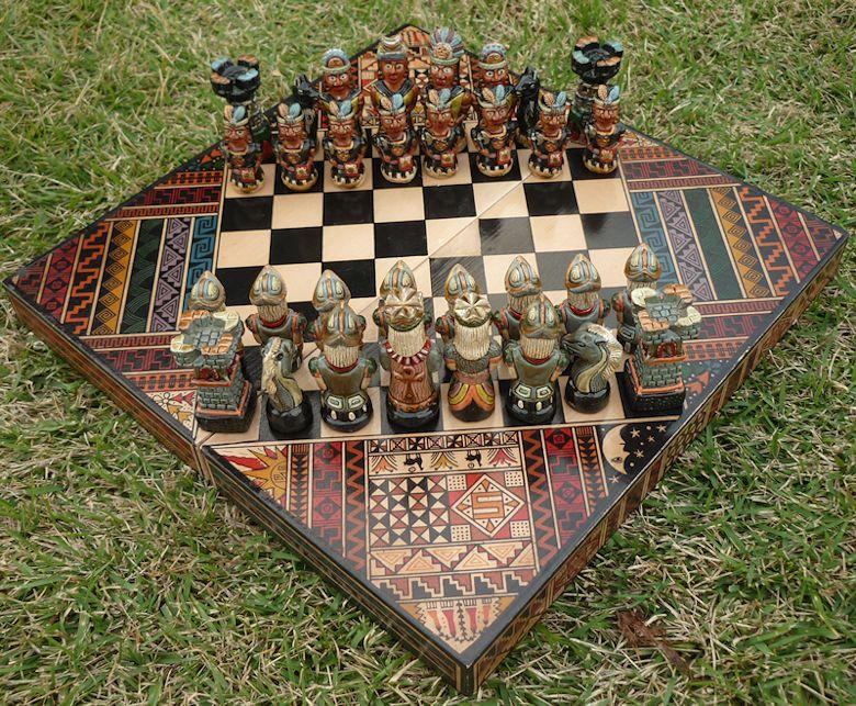 ペルー インカ アンデス チェスボード アンデス チェス ひし形  S10