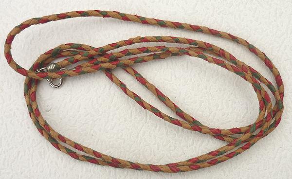 大幅値下げランキング 羊革 ネックレス ひも 紐 パーツ 組み紐 ペルー 可愛い 21 お値打ち価格で 長い分 アンデス 綺麗