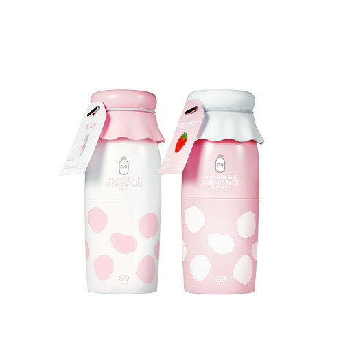 エリシャコイ公式ショップ 炭酸パック 美白 スーパーセール 2個セット 送料無料 G9SKIN G9スキン MILK PACK ミルクバブルエッセンスパック 牛乳パック 1+1セット ESSENCE BUBBLE 感謝価格 50g