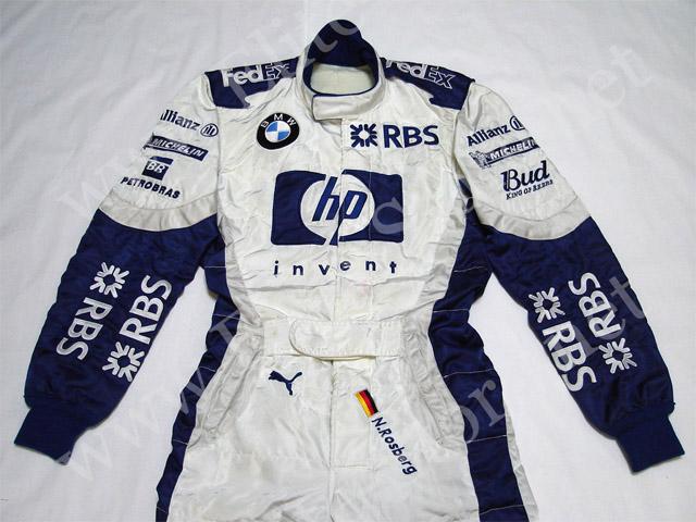【送料無料】 ニコ・ロズベルグ 2005年 BMW・ウィリアムズ F1 支給品 実使用 レーシングスーツ (海外直輸入 F1 USEDグッズ メモラビリア)