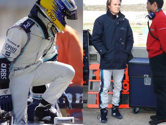 Nico Nico 罗斯伯格 2006年威廉姆斯 F1 用品实际上使用的鞋 (出售给 F1 从海外进口的废旧物品)