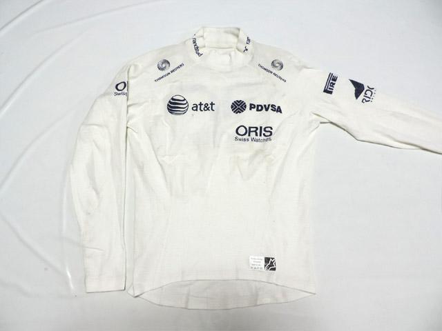 【送料無料】 ルーベンス・バリチェロ 2011年 ウィリアムズ 支給品 実使用 ノーメックス (海外直輸入 F1 非売品USEDグッズ メモラビリア)