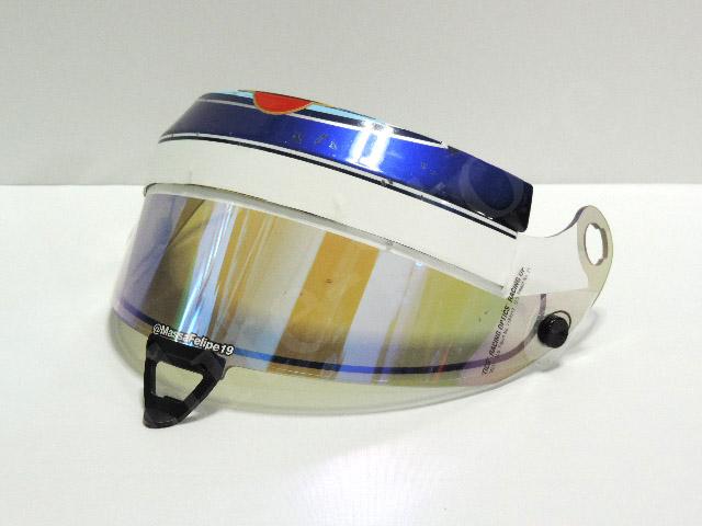 【送料無料】 フェリペ・マッサ 2014年 ウィリアムズ・マルティニ 支給品 シューベルト製 実使用 ザイロン付き SF1 バイザー (海外直輸入 F1 非売品USEDグッズ メモラビリア)