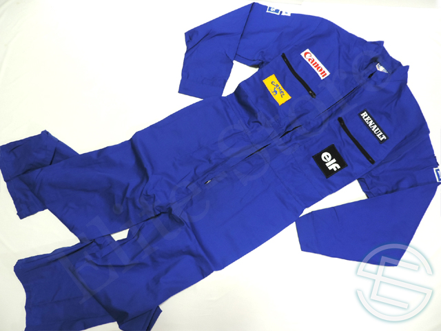 【送料無料】 キャノン・ウィリアムズ 1993年 支給品 メカニックスーツ L 5/5 (海外直輸入 F1 非売品USEDグッズ)
